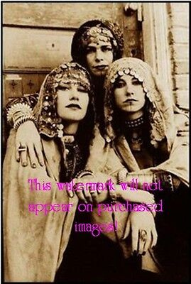 Old VINTAGE Antique BEAUTIFUL GYPSY SISTERS Photo Reprint