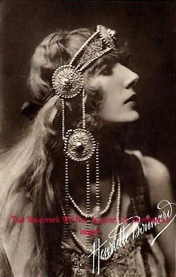 VINTAGE Antique BEAUTIFUL GYPSY with HAIR PIECE Photo REPRINT