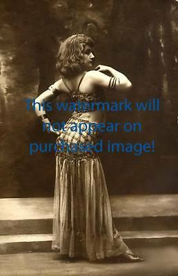 Old VINTAGE Antique BEAUTIFUL BACKSIDE  Photo Reprint