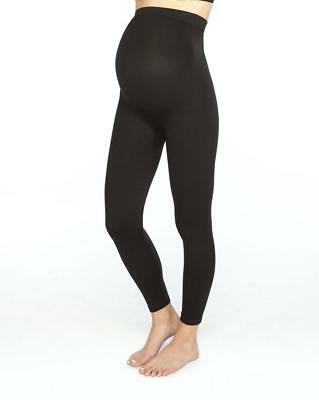 New! $78 Spanx Stretch Cotton 'mama Look At Me Now' Legging In Black Size M