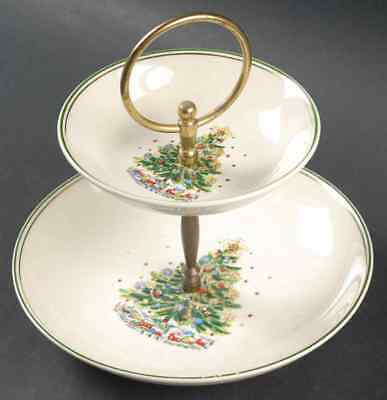 Salem CHRISTMAS EVE (EARTHENWARE) 2 Tiered Serving Tray S1804750G3