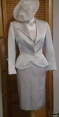 Gorgeous Mother of Bride Soft Gold Dress & Jacket by Jaeger, Size 10