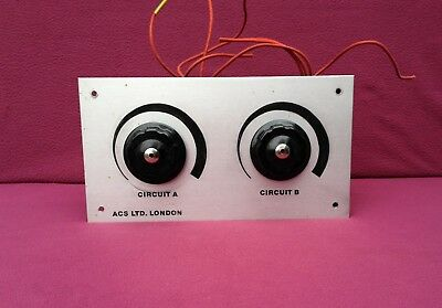 Claude Lyons Type 403 240V 3 Amp Variable Dual Dimmer Control - Good Condition