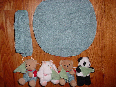 Blue Jean Teddy Bear Replacement Crib Mobile Pieces (6)
