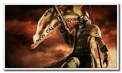 """Fallout 4 Cool Gift 21""""x12"""" Fiber Silk Game Banner Poster Hot Wall Decoration"""