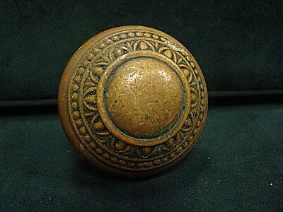 Antique Victorian Decorative Heavy Thick Brass Bronze Door Knob Gy