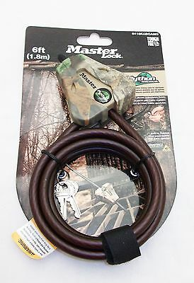 2 Keyed the Same Master Lock 8418KAD Python Locking 6' Cable Camo - Free Ship