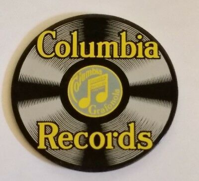 Columbia Records Co Vintage Style Porcelain Enamel Sign Magnet Advertising