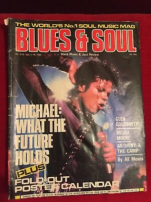 Rare Michael Jackson Blues & Soul Music 1988 Magazine No Calendar Included