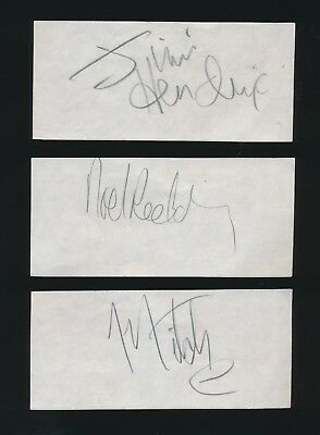Jimi Hendrix GREAT VINTAGE SET OF ALL 3 AUTOGRAPHS FROM THE LATE 1960s !