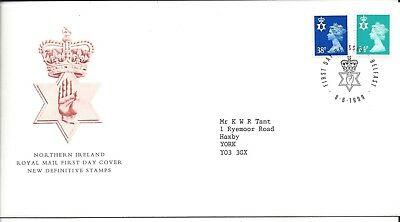 Northern Ireland 1999 Regional Machins Fdc Belfast Postmark