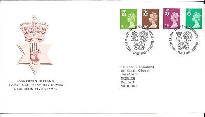 Northern Ireland 1996 Regional Machins Fdc Edinburgh Postmark
