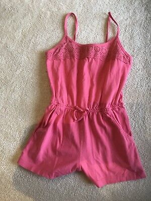 Monsoon Girls Pink Summer Shorts Playsuit Age 6 Ex Cond
