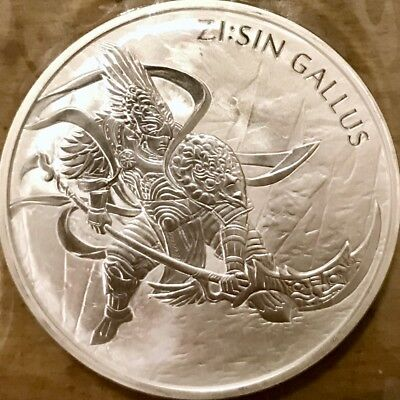 2017 South Korea Zi:Sin Series Gallus Medal 1 oz Silver BU Bullion Coin - KOMSCO