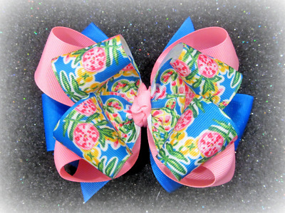 Lilly Hairbow Girls Hair Bows Boutique Baby Hairbows Triple Stacked Large Big