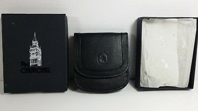 Vintage PM Churchill Leather Wallet with Box i~ Excellent Condition