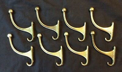 8 - Vintage Single coat hook antique brass finish hat Wall Hooks