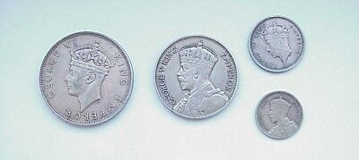 VINTAGE 1932-1938 British Southern Rhodesia Coin Lot of 4 King George V & VI