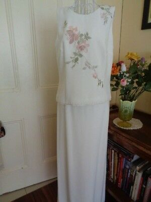 Retro Long Skirt & Top By Laura With Embroidery Detail Made In Australia