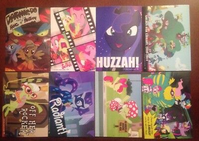 My Little Pony Friendship Is Magic Series 3 Trading Cards Stickers Lot Of 8
