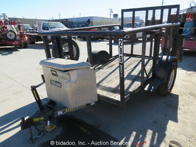 2005 Big Tex 30SA 10'x5' Utility Fold Down Ramp Gate Tongue Box bidadoo Trailer