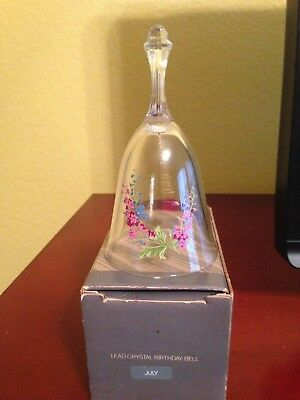 Avon Lead Crystal Birthday Bell - July - 1980's