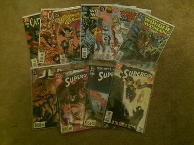 lot of 11 Different DC Comics Wonder Woman Cat Woman SuperGirl Bagged