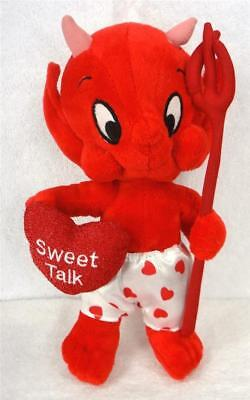 "HOT STUFF Little Devil ""SWEET TALK"" HEART Plush Doll"