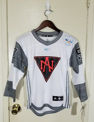 new concept c9405 11dec MCDAVID TEAM NORTH AMERICA WORLD CUP OF HOCKEY ADIDAS BOY'S JERSEY SIZE S  NEW