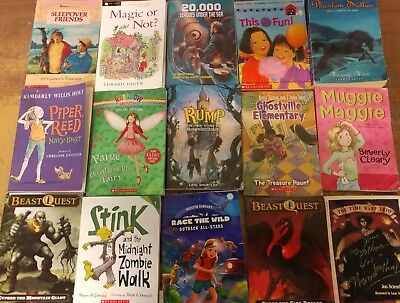 Lot of 60 Chapter Scholastic Disney RL 2 3 4 5 Child Books AR MIX UNSORTED #G05