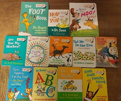 Lot of 12 Dr. Seuss Bright and Early Children Kids Read BOARD Books Ear Eye #G99