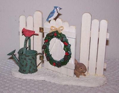 Hallmark Marjolein Bastin Winter Scene - Snowy Fence with Birds & Bunny