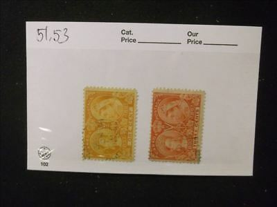 6802 Canada Used Stamp Pack #51,53
