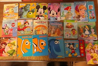Lot of 40 Disney Board Toddler Hardcover Picture DayCare Child Book UNSORTED G12