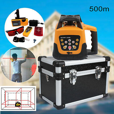 500m Range Automatic Red Beam Self-Leveling Rotary Laser Level Remote Control