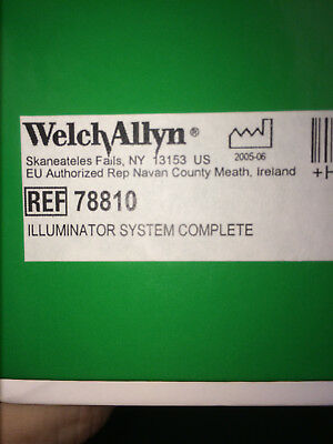 Welch Allyn 78810 Complete KleenSpec Corded Vaginal Illumination System; New