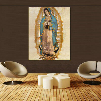 """virgen de guadalupe"" HD print on canvas huge wall picture (31x63)"
