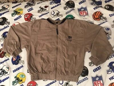 Vtg 90s Mirage Las Vegas Casino Hotel Mens Full Zip Windbreaker Jacket Sz Small