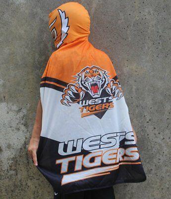 Wests Tigers NRL Kids Mape Wrestling Mask Cape Flag!