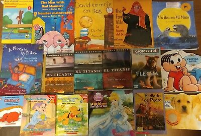 Lot of 30 Spanish Espanol Learn to Read Children Kids Picture ESL Book MIX #G20