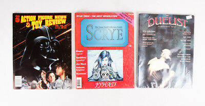 Collector Magazine Lot of 3: Duelist #3, Scrye #2, Action Figure News #9