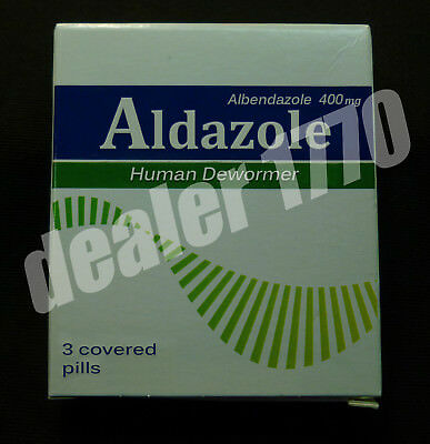Aldazole Human Anti Worms Dewormer for People no-Prescription Albendazole 400 mg
