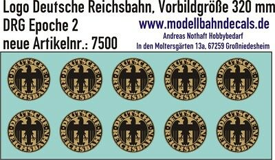 10 H0 Decals DRG Logo D: 3,7 mm gold/schwarz Keks TOP NEU Decals 087-7500