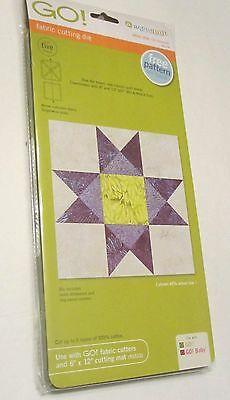"""Accuquilt Go Fabric Cutting Die Ohio Star-12"""" Finished 55174>"""