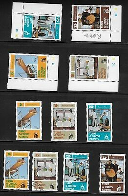 Turks & Caicos Islands 1982 Norman Rockwell Commemoration - MNH and Used Sets