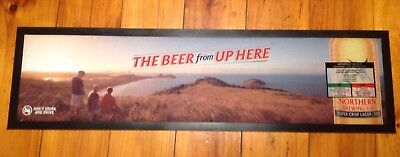 "Great Northern ""The Beer From Up Here"" Bar Mat/Runner Brand New 900mm X 250mm"