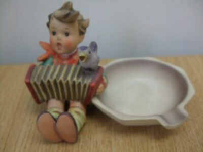 Goebel Hummel Signed Figurine Ashtray Model No. 114 Lets Sing
