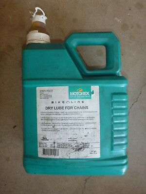 Motorex Dry Chain Lube 5L Bottle (80% Full).