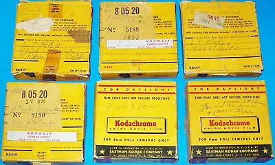 1950s 8mm FILM REELS FAMILY HOME / TRAVEL CALIFORNIA 6 MOVIE LOT