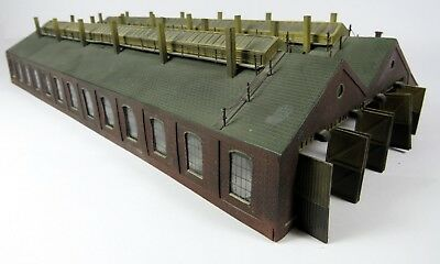 N Gauge Scratch Built Large 4 Road Engine Shed (Magazine Featured) UNBOXED (L2)